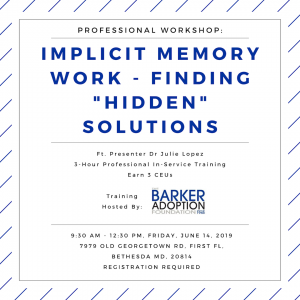 Implicit Memory Work - Training Session by Dr. Jule Lopez